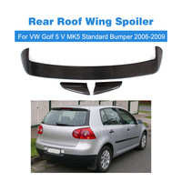 3PCS/SET for VW Volkswagen Golf 5 V MK5 Standard Bumper 2006 2009 Carbon Fiber Car Rear Roof Wing Spoiler Boot Lips