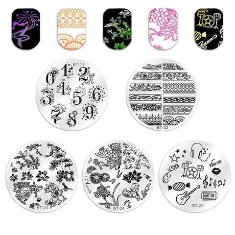1pc 56 Designs Available Biutee Stamping Plate Lace Starfish & Shell Negative Space Leaves Flowers Animals Nail Template Pakistan