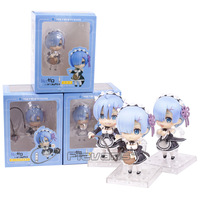 Re:Life in a different world from zero Rem PVC Figures Collectible Model Toys Nendoroid Dolls 3pcs/set 10cm