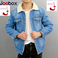 Jacket Jeans Men 2018 Winter Thicken Warm Lamb Wool Fleece Lining Denim Jacket Men Coats Cotton Hip Hop Jaqueta Masculino Coat