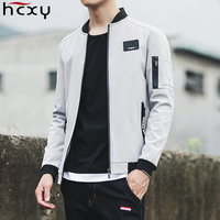 HCXY 2017 New Men Jacket Spring Autumn Fashion Brand Slim Fit Aviator Coats Male Baseball Bomber