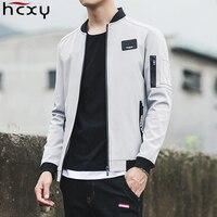 HCXY 2017 New Men Jacket Spring Autumn Fashion Brand Slim Fit Aviator Coats Male Baseball Bomber
