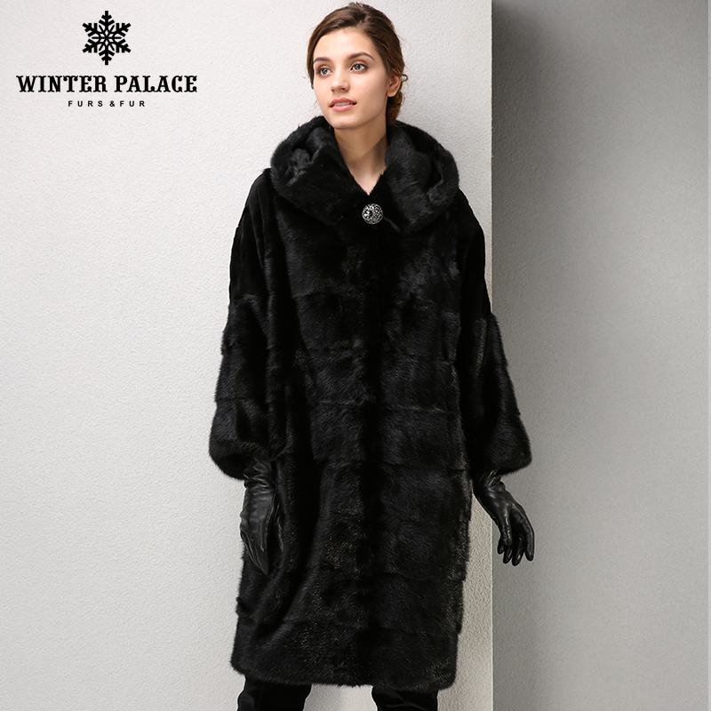 Winter Mode high-grade frauen mlnk mantel lange pelzmantel Komfortable mlnk pelz Stehkragen mantel WINTER PALACE
