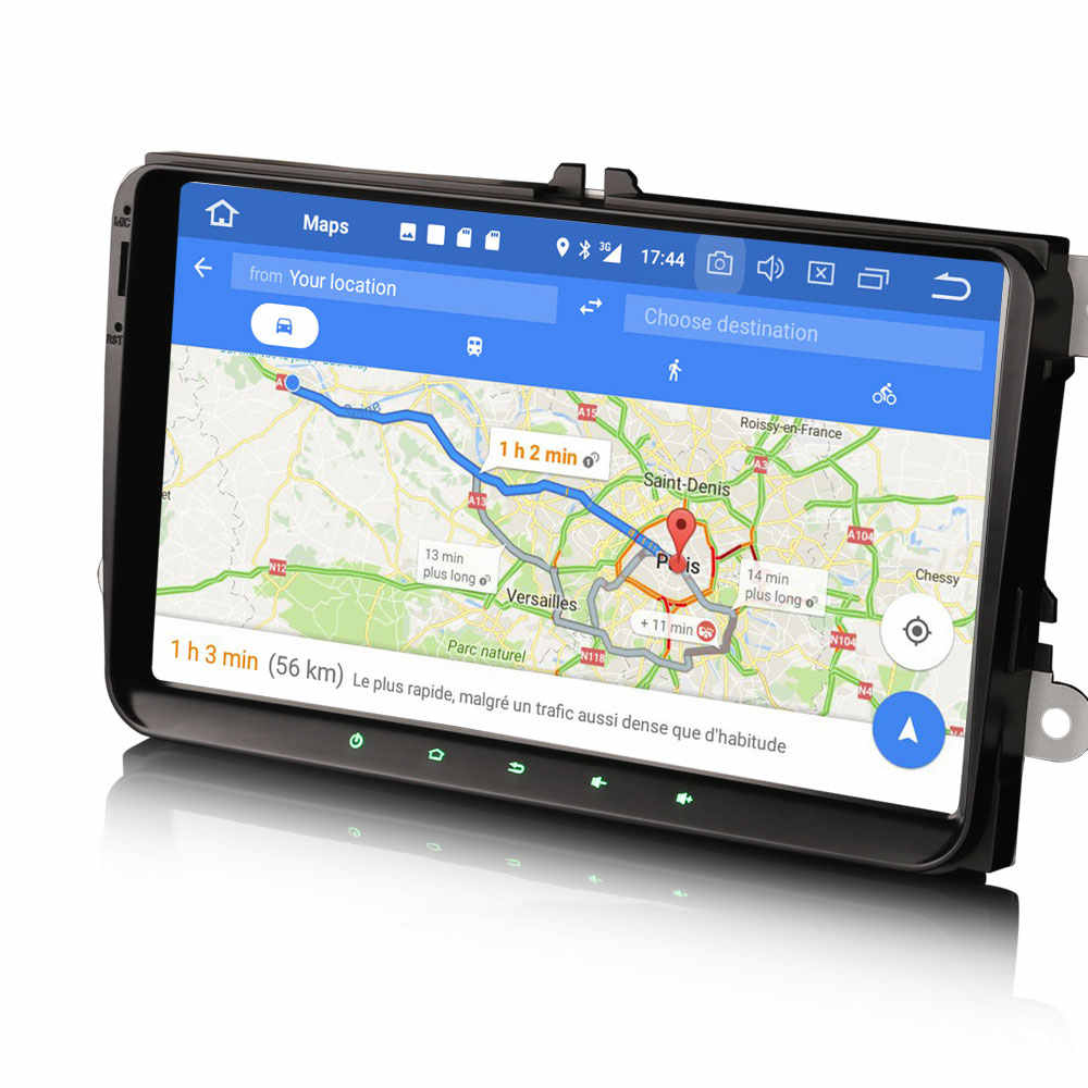 "9 ""Android 9.0 OS Mobil Multimedia GPS Radio untuk Volkswagen Sagitar 2005-2015 Lavida 2011-2012 Amarok 2010-2015 Caddy 2003-2015"