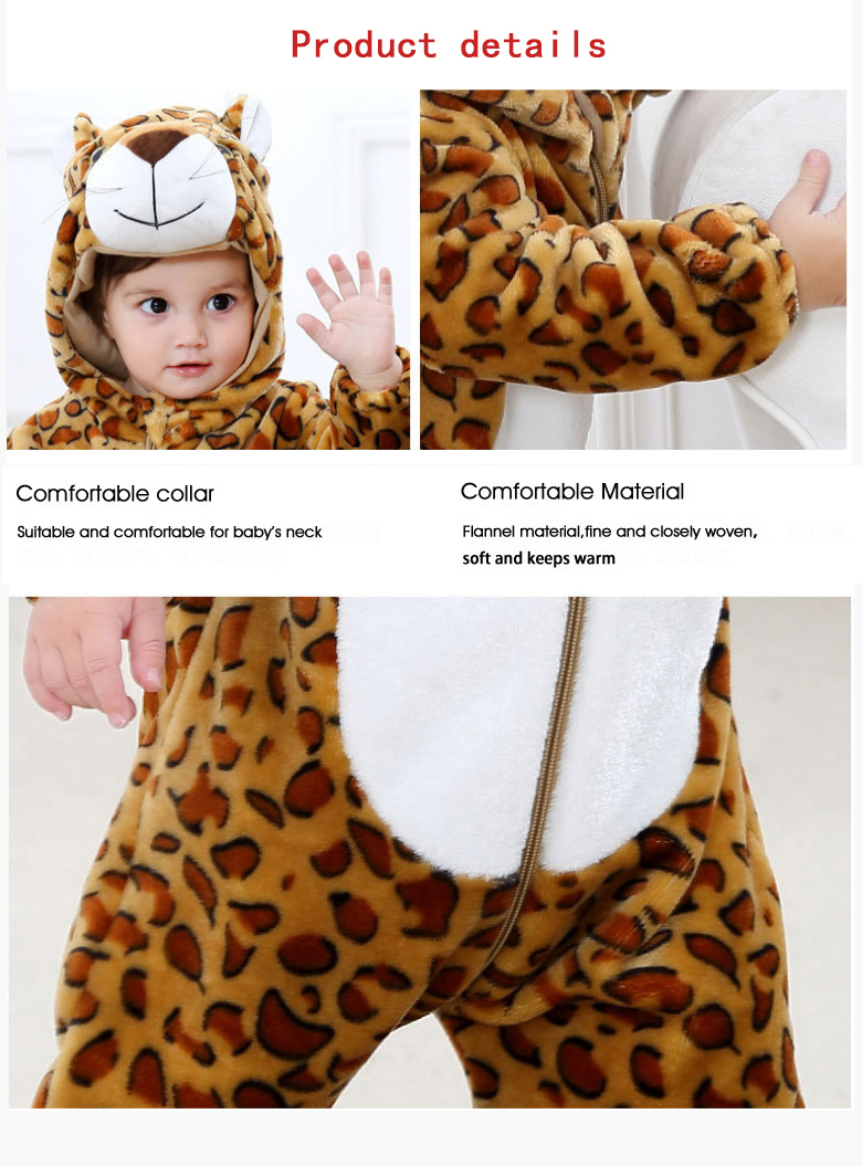 2019 Infant Romper Baby Boys Girls Jumpsuit New born Bebe Clothing Hooded Toddler Baby Clothes Cute Panda Romper Baby Costumes