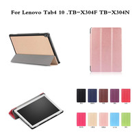 For Lenovo Tab4 10 TB X304F TB X304N 10 Business Print PU Leather Flip Smart Sleep