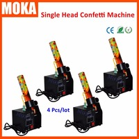 Stage Effects Equipment Paper Confetti Machine Whirlwind Single Head Confetti Cannons Wedding Party Electric Shot 4PCS