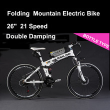 SMLRO 24/26″ 21 Speed 250/350/500W Strong Power Ebike, Electric Bike, Folding Electric Bicycle, Lithium Battery MTB