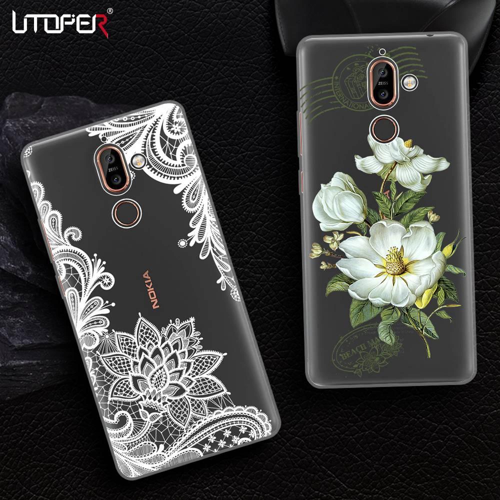 For Nokia 8 Case X6 Cover 7 Plus 5 Tempered Glass Warna Full Utoper Bunga Kasus Untuk Ditambah Silikon Penutup 6 2018 Coque