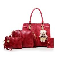 Composite Bags Women Bag Black Handbags 5 Color Lovely Bear Versatile Women Top Handle Bag Messenger