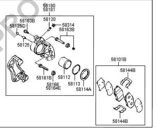 (4 pièce/ensemble) jeu de plaquettes de frein avant KIT-FR frein à disque pour Hyundai IX35 SUV KIA Cadenza Sportage Auto voiture moteur partie 581013RA00 - 4