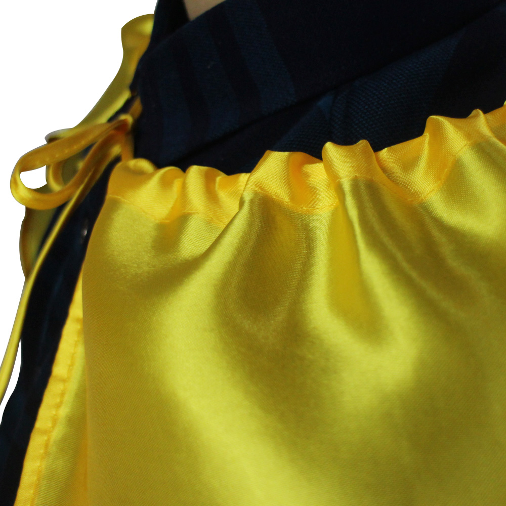 10 Packs SPECIAL140 90 cm Adult Yellow Costume Cape And Mask Set College Student Costume Cosplay Long Halloween Cape Gift
