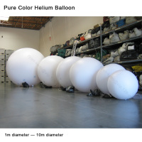 Pure color white inflatable helium balloon sphere PVC ball