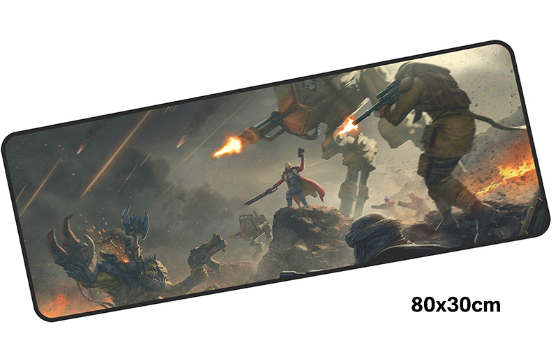 warhammer 40k mousepad gamer 800x300X3MM gaming mouse pad Mass pattern notebook pc accessories laptop padmouse ergonomic mat