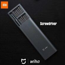 100% Xiaomi Mijia Wiha สกรูทุกวันใช้สกรูชุด 24 Precision Bits แม่เหล็กอลูมิเนียมกล่อง Xiaomi Smart Home