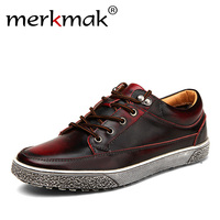 High Quality Hot Sale Men Vintage Genuine Leather Shoes Washing Distressed Men S Fashion Sneakers Lace