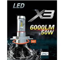 H4 x3 светодиодный фар H1 h3 H7 H8 9005 H11 9006 чрезвычайно яркие лампочки туман фары переоборудованы Дальний свет светодиодный H4 6000 K