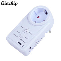 QIACHIP EU Plug GSM Power Outlet Socket Temperature Sensor Intelligent Temperature Control Russian SMS Command Control