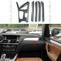 6PCS Carbon Fiber Color Interior Trim Kit Full Set Cover For BMW X3 F25 2011-16