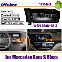 Liislee 10.25 Inch Android 2+32G Car For Mercedes Benz S Class W221 2006~2013 Original Stereo GPS NAVI Map Navigation Multimedia