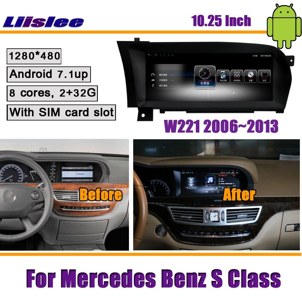 Liislee 10.25 pouces Android 2 + 32G voiture pour Mercedes Benz S classe W221 2006 ~ 2013 Original stéréo GPS NAVI carte Navigation multimédia