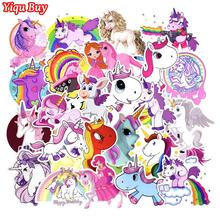 50 Pcs Unicorn Stickers for Laptop Skateboard Luggage Car Styling Bicycle Motorcycle Doodle Decals Cute Funny Waterproof Sticker
