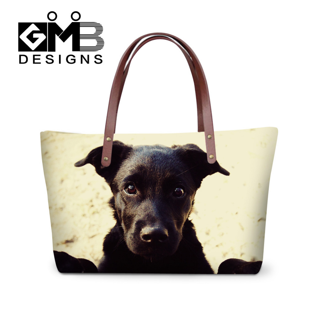 Fashion Women Handbags Animal Dog Cat Printed Shoulder Bags Female Large Capacity Messenger Bags Ladies Beach Bag Big Tote Bags forudesigns vintage black pet dog printed women large handbags fashion ladies top handle bag girls shoulder female big tote bag