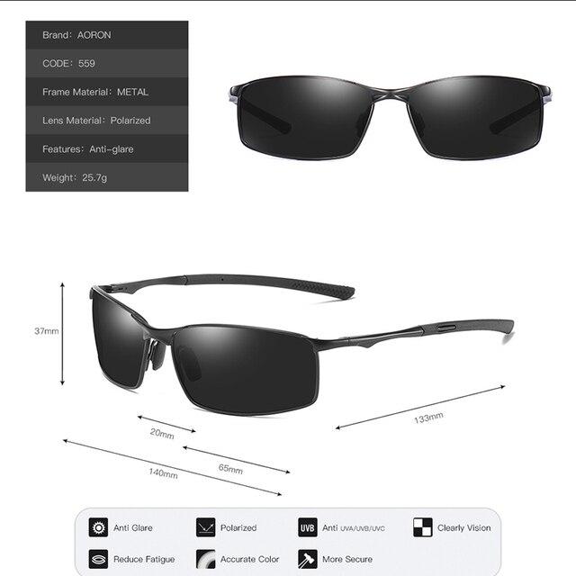 Aoron 2019 Mens Polarized Sunglasses for Sports,Outdoor Driving Sunglasses Men,Metal Frame Sun Glasses gafas de sol hombre 8
