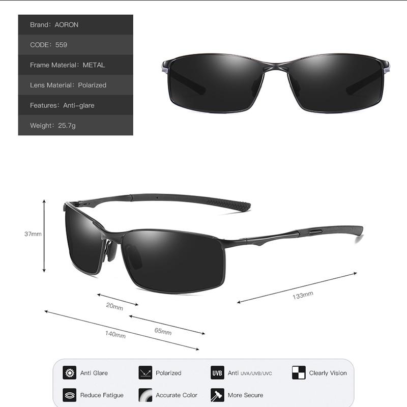 Aoron Sunglasses Mens/Women Polarized Sunglasses,Outdoor Driving Classic Mirror Sun Glasses Men,Metal Frame UV400 Eyewear 4