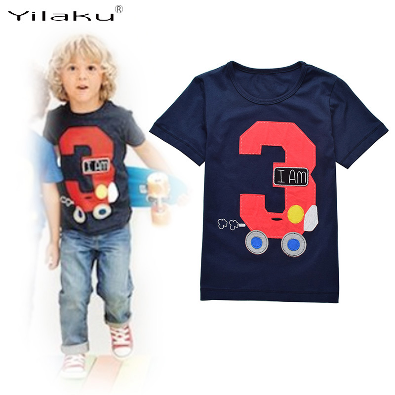 Kids Tops T shirts 2017 Summer Short Sleeve Boys T shirt