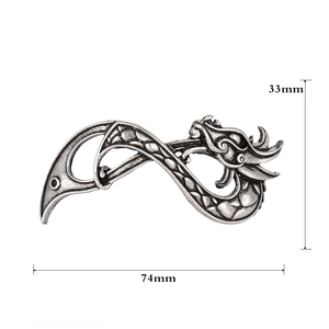 Заколки для волос Norse Dragon, аксессуары для слайдов, F-07