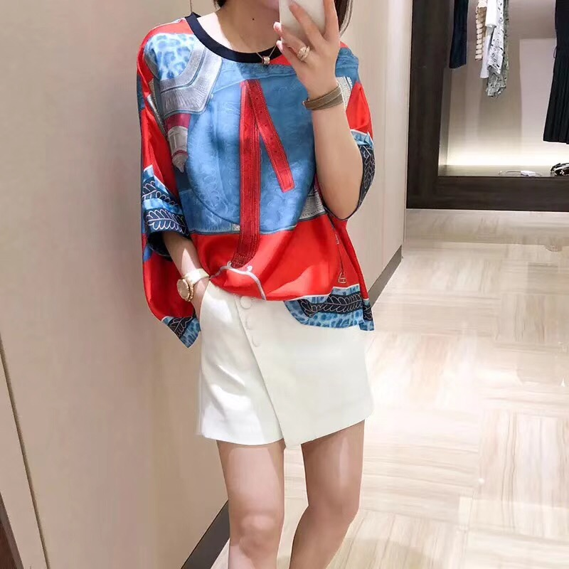 WRD0647 Runway Fashion Women Tops & Tees 2018 Luxury Brands European Designer Casual T Shirts Women vestido