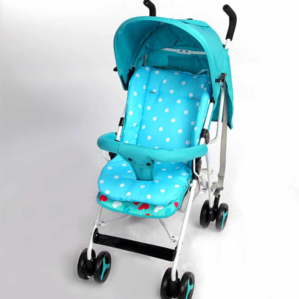 รถเข็นเด็กทารก Cushion รถเข็นเด็กเก้าอี้สูง Pram รถสีสันสดใสนุ่มที่นอนรถที่นั่งรถเข็นเด็กอุปกรณ์เสริม