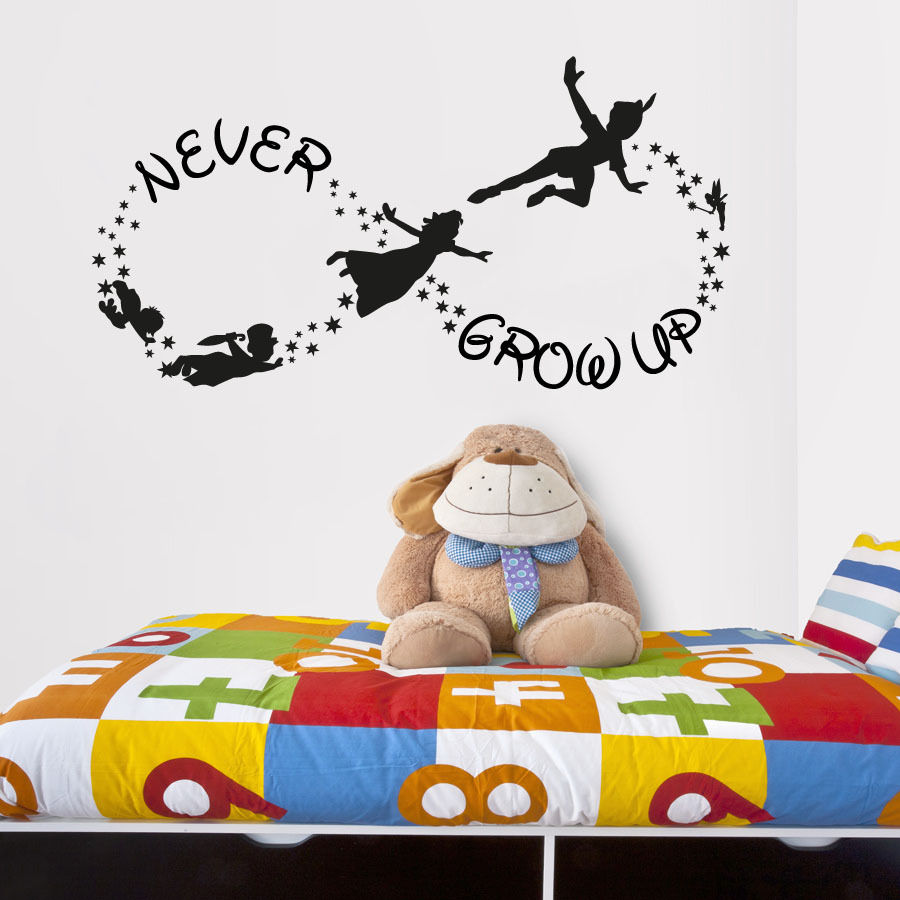 Online get cheap wall stickers for kids peter pan aliexpress hot sell wholesale 55105cm vinyl wall decal sticker bedroom peter pan never land kids amipublicfo Gallery