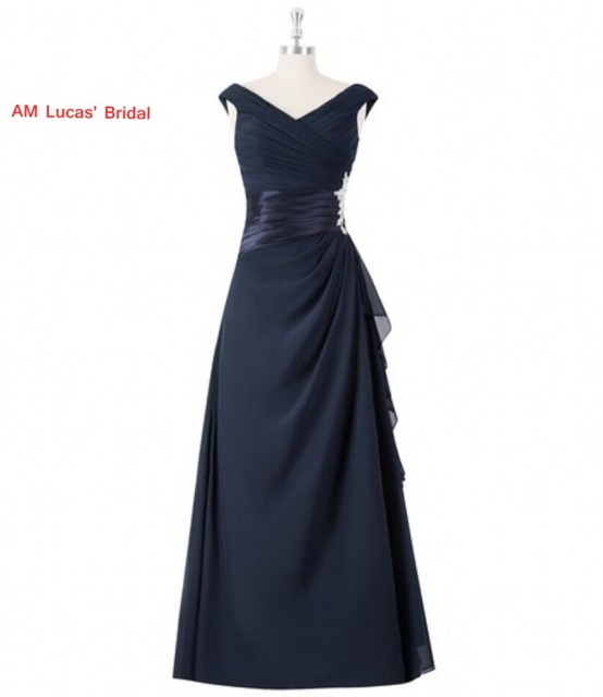 Simple Straight Evening Dresses Pleat Formal Gowns For Wedding Party