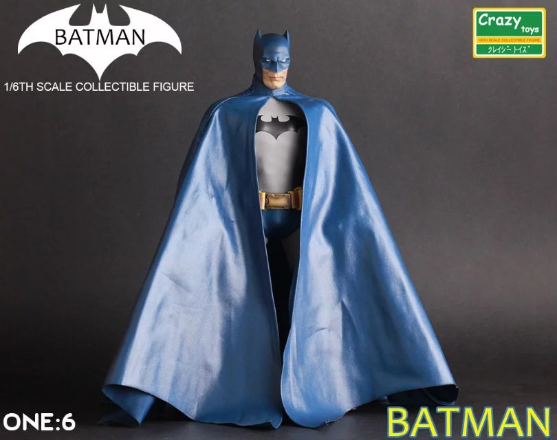 Crazy Toys 1:6 Batman Blue Ver. BJD  The Dark Knight Bat Man Collectible Action Figure Toys Joint Can Move