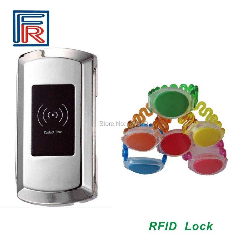 10pcs Zinc alloy sauna Resort Hotel cabinet lock+13.56mhz RFID wristband card10pcs Zinc alloy sauna Resort Hotel cabinet lock+13.56mhz RFID wristband card