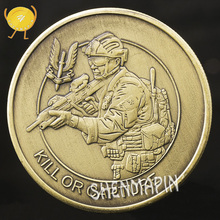 Special Forces Sniper Challenge Coin Double-sided Embossed Ancient Bronze Commemorative Coin Military Coins Collectibles special forces sniper challenge coin double sided embossed ancient bronze commemorative coin military coins collectibles