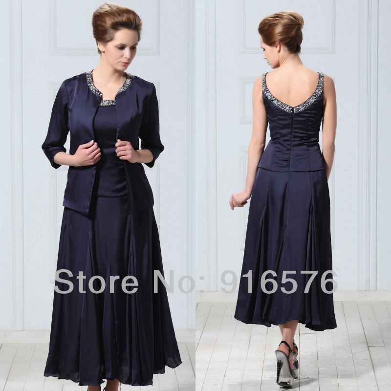 Plus Size Mother Of The Groom Dresses Bride With Jacket Prom Dress