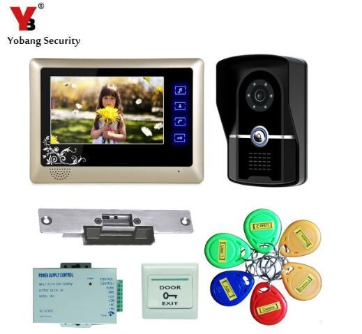 где купить Yobang Security-Door Intercom Video Door Phone Doorbell Interphone Video interfone para casa Hands Free Monitor Doorbell дешево