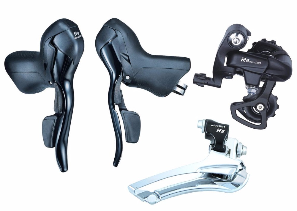 NEW MICROSHIFT SB-R482 Double 8 Speed Road Bike Derailleur Sets for Shimano SRAM microshift groupset sb r482 shifters double 2x8 speed group road bike derailleur set bicycle compatible for shimano