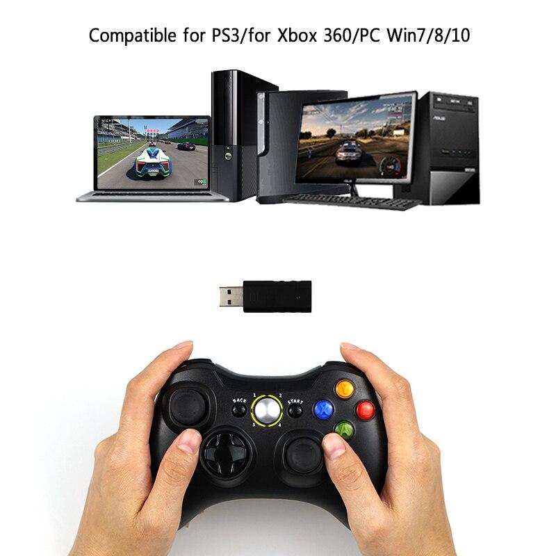 3 en 1 2,4 GHz Bluetooth controlador inalámbrico para Sony PS3 para consola Xbox 360 juego de la palanca de control para PC win7 Win8 Win10