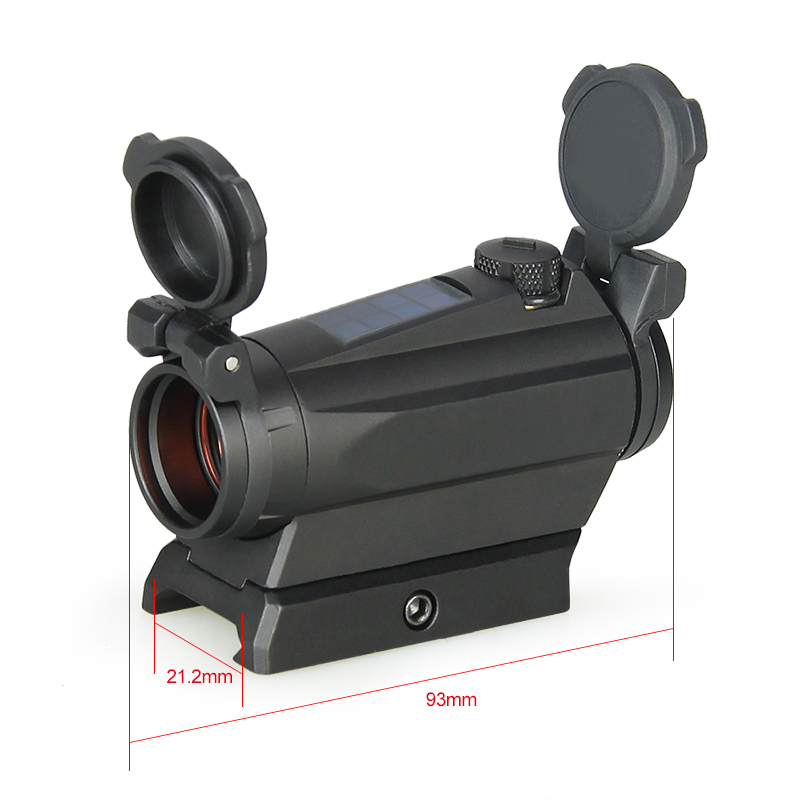 PPT 1x20MM Compact Red Dot scope Sight 2MOA Solar Energy Sight for outdoor Hunting GZ2 0126