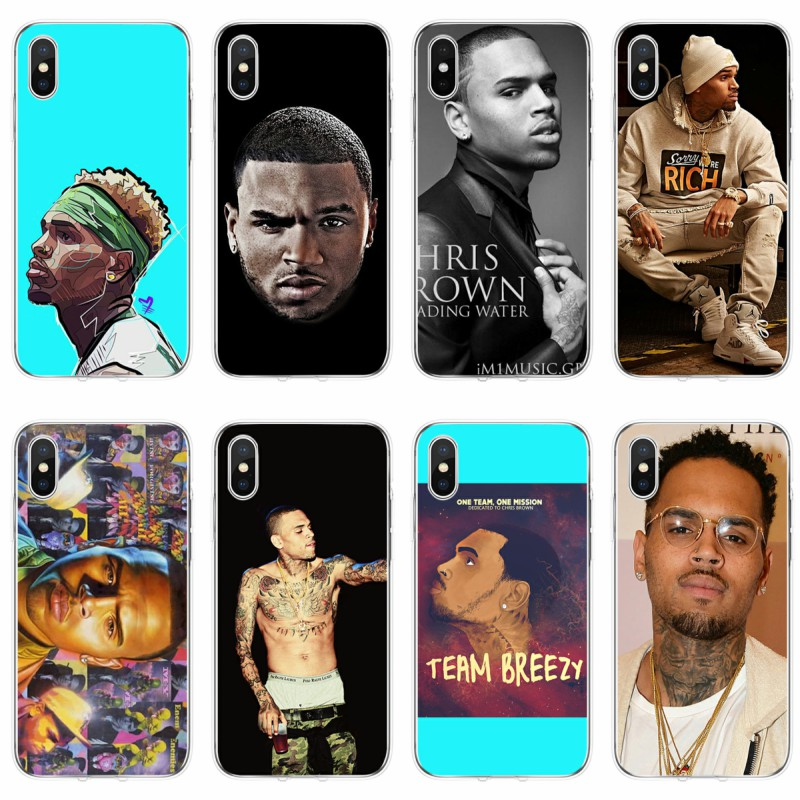 chris brown collage iphone case