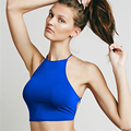 2017 Abner New Sexy Backless Slim Back Tie Up Tanks Casual Cotton Sleeveless Short Bottoming Tops Candy Colors Tanks Femme