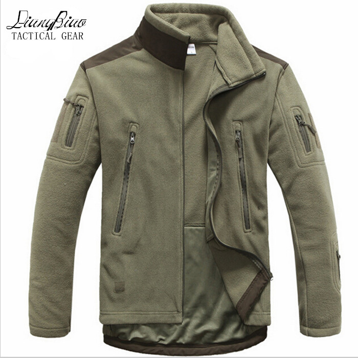 Men Tactical clothing autumn winter fleece army jacket softshell hunt clothing men softshell military style jackets