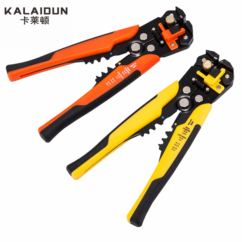 KALAIDUN Multifunctional automatic stripping pliers Cable wire Stripping Crimping tools Cutting Multi Tool Pliers Hand tools pro skit 6pk 535 round cable 254 mm wire nipper pliers multifunction wire tool for stripping the cable hand tools pliers