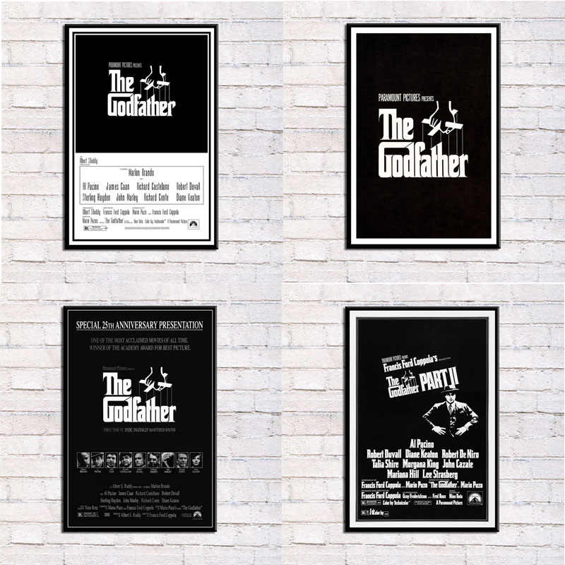 P049 The Godfather Movie Series Marlon Brando Al Pacino Classic Art Silk Canvas Poster Wall Home Decor Artwork