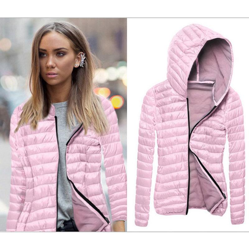 Slim Winter Autumn   Jacket   Women Casual Fashion Sexy Ladies Coats Zipper Women Hooded Bomber   Basic     Jackets   Female Outwear KJT599