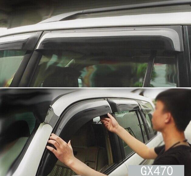 4 шт. Двери Окна Козырек Дождь Щит Гвардии Вс Дефлекторы Для Lexus GX470 2003-2009